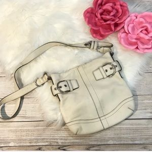 Coach ivory bag crossbody purse